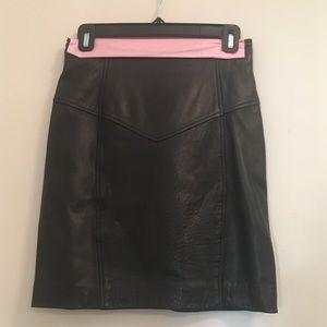 Dresses & Skirts - Vintage La Rauvelle Renaissance Leather Skirt